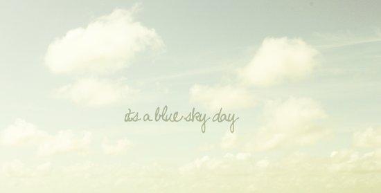 Its a blue sky day II Art Print