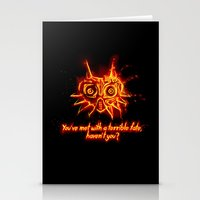 Majora's Mask Fire Stationery Cards