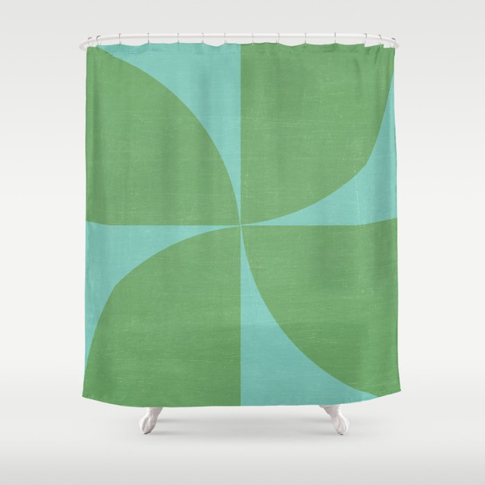 Mod Petals Teal And Green Shower Curtain By Her Art Society6