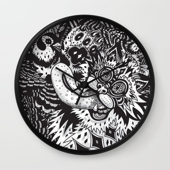 Domesticated (Afternoon in The Garden) Wall Clock