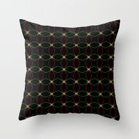 Red Leaf, Green Leaf Throw Pillow
