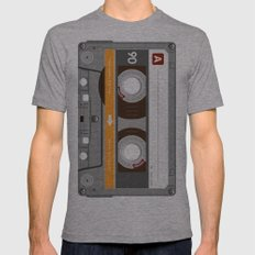 K7 Cassette 6 Mens Fitted Tee Athletic Grey SMALL