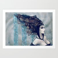Zodiac Sign: Aquarius Art Print