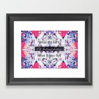 What If you fly? Soft Framed Art Print