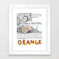 Snail Orange Alert Framed Art Print