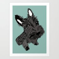 Scottie Art Print