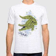 Crocodile Mens Fitted Tee Ash Grey SMALL