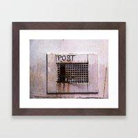 Mail Box Framed Art Print