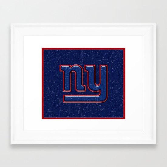 New York Giants Logo Framed Art Print