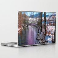 Quiet River In Winter Ti… Laptop & iPad Skin