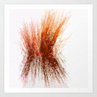 Sunset Reeds Art Print