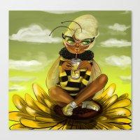 Bug Girls: Bee Snack Bre… Canvas Print