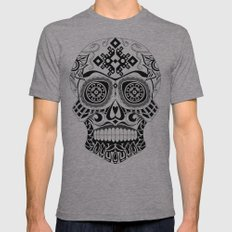 Skull-o-mania Mens Fitted Tee Athletic Grey SMALL