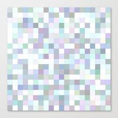 Pale square mosaic Canvas Print