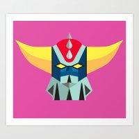 GOLDRAKE - Ufo Robot Art Print