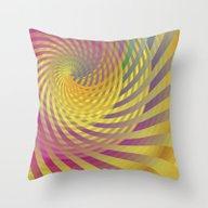 Sun Swirl Throw Pillow