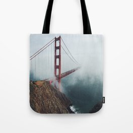 Tote Bag - Floating Bridge - Black Winter