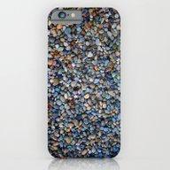 Blue Pebble Texture iPhone 6 Slim Case