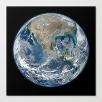 The Blue Marble Canvas Print