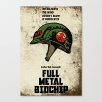 Full Metal Biochip Canvas Print
