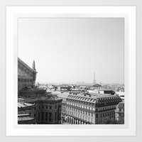 Paris in Grey Art Print