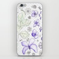 Violet Watercolor iPhone & iPod Skin