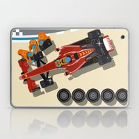 Race car in pit stop Laptop & iPad Skin
