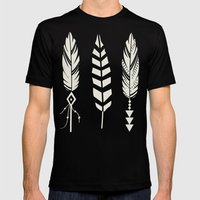 Gypsy Feathers Mens Fitted Tee Black SMALL