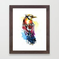 Crazy Jay Framed Art Print