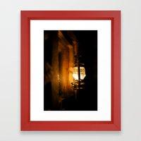 Oil lamp Framed Art Print