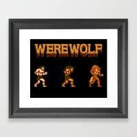 Unleash The Beast- Werew… Framed Art Print