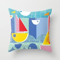 Atomic Mid Century Moder… Throw Pillow