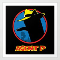 Agent P Art Print
