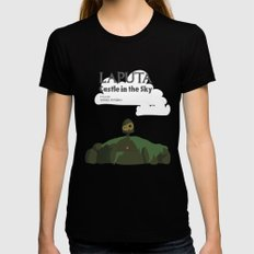 Laputa Castle in the Sky Womens Fitted Tee Black SMALL