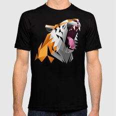 TML polygon tiger ROAR!!! SMALL Black Mens Fitted Tee