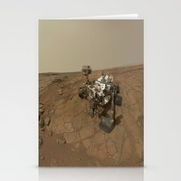 NASA Curiosity Rover's Self Portrait at 'John Klein' Drilling Site in HD Stationery Cards