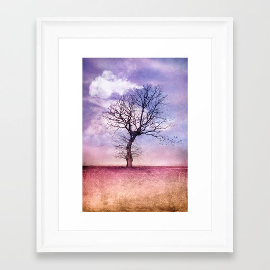 ATMOSPHERIC TREE | Early Spring Framed Art Print