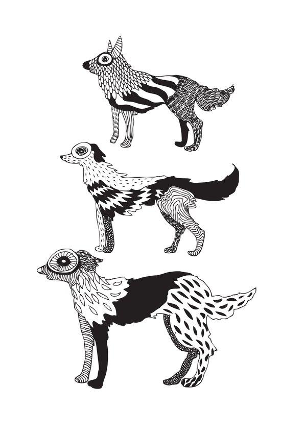 Andersen dogs Art Print