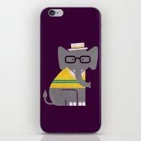 Rodney the preppy elephant iPhone & iPod Skin