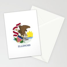 State flag of Illinois - Authentic color and scale Stationery Cards