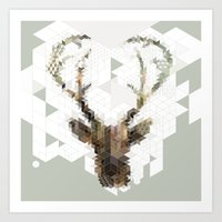 Deer Architect Art Print