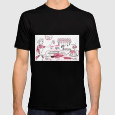 Baking Day Fun SMALL Mens Fitted Tee Black