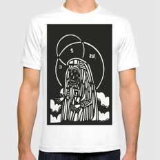 CRY White SMALL Mens Fitted Tee