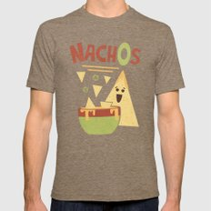 NachOs Mens Fitted Tee Tri-Coffee SMALL