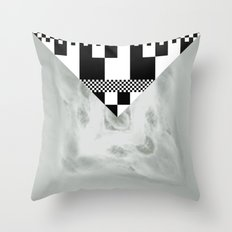 waves/grid #1 Throw Pillow