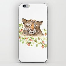 Tiger in Strawberries iPhone & iPod Skin