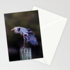 Blue Heron Yoga Stationery Cards