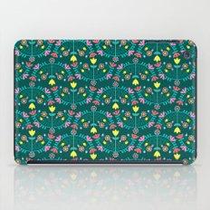 Folk Flowers Green iPad Case