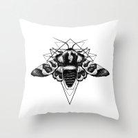 Geometric Moth Throw Pillow