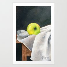 Lonely Apple Art Print